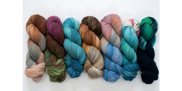 Jo Thomson, hand dyed wool, Orkney